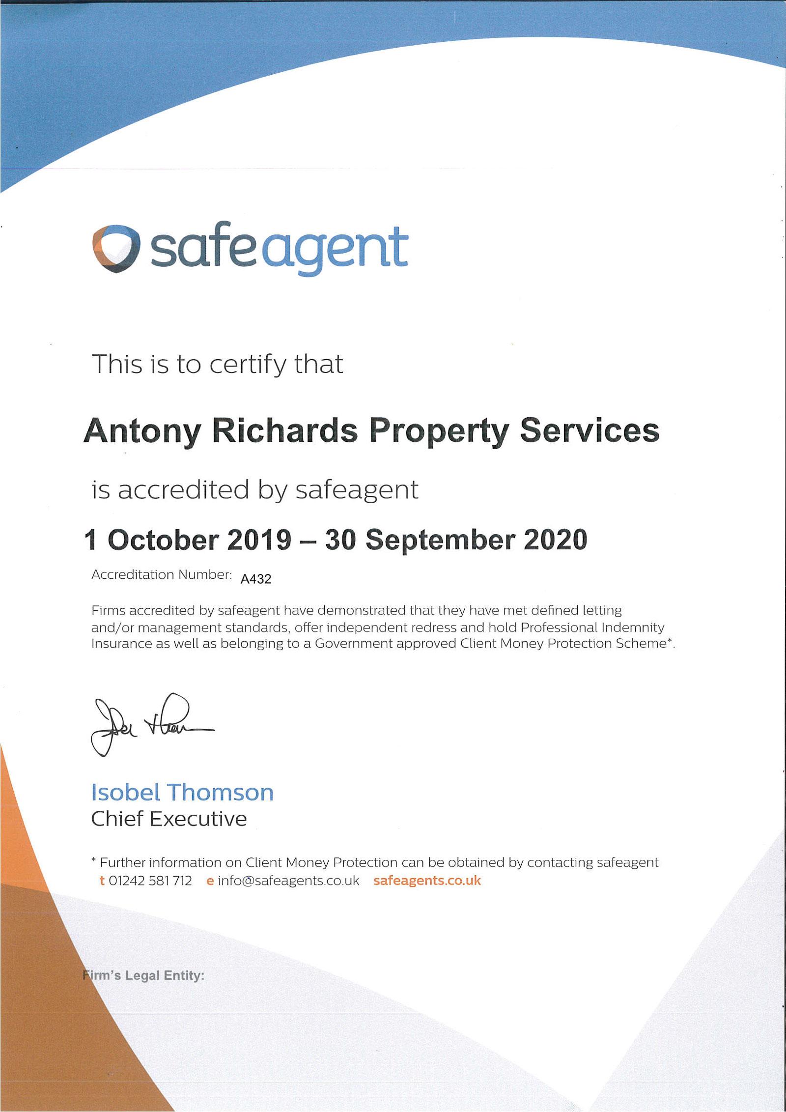 safeagent-Certificate